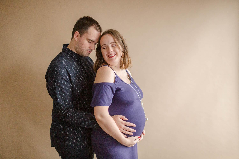 les futurs-parents Corentin et Charlotte, Olone sur mer