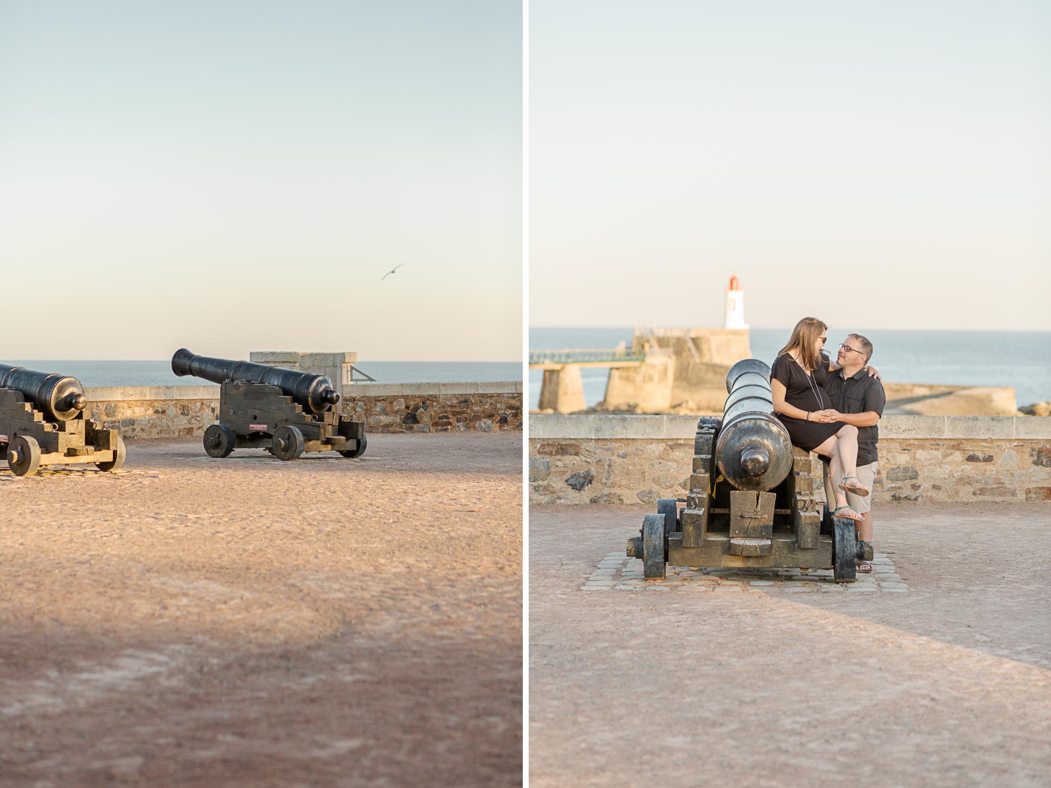 Les Futurs parents Pauline et Frédéric sur la côte Sablaise